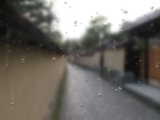 画面に雨粒が当たる表現