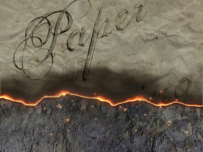紙燃えワイプ